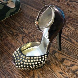 Steve Madden peep toe high heel